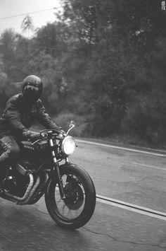 Black Honda CB
