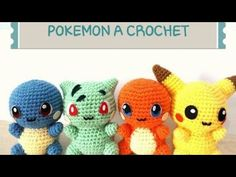 Characters from the Pikachu drawing in amigurumi. Source: Etsy Amigurumi Characters i Pokemon Crochet Pattern, Pikachu Crochet, Kawaii Crochet, Crochet Patterns Amigurumi, Cute Crochet, Crochet Crafts, Crochet Dolls, Crochet Projects, Knitting Patterns