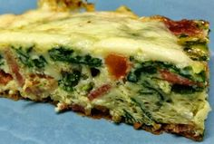 Yummy Bacon, Tomatoes, and Spinach #Frittata. Click For Recipe