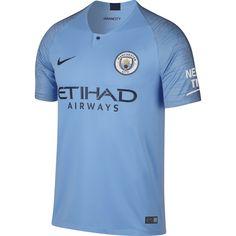 8f8aeb7cb567e Nike Manchester City Home Mens Short Sleeve Jersey 2018 2019 The Nike  Manchester City Home