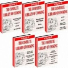 The Complete Library Of Cooking.  5 Volume Set Covering Everything You Need To Know About Home Cooking! Whether you are a novice just learning how to cook, an experienced cook or maybe you are thinking about a career in culinary arts, this collection is perfect for you.