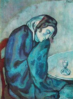 Sleeping Drinker - Picasso (1901) Arlequín de Picasso (1901) y el período azul