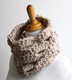 Chunky Lace Cowl Scarf by Afternoon Owl Designs on Scoutmob Shoppe.