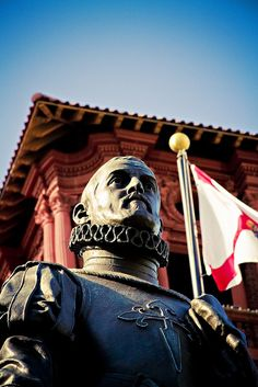 The Pedro Menéndez de Avilés statue, which depicts the man who planned the first trans-oceanic trips that were pivotal to the development and founding of St. Augustine, Florida in 1565.