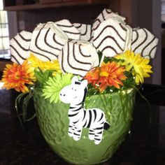Zebra cakes for baby shower