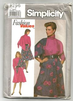 Check out this item in my Etsy shop https://www.etsy.com/listing/463971401/9296-simplicity-sewing-pattern-petite
