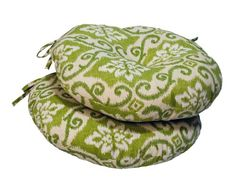 Greendale Home Fashions Set of Two Green Ikat Round Outdoor Bistro Chair Cushions Round Outdoor Cushions, Outdoor Fabric, Indoor Outdoor, Fire Pit Furniture, Patio Furniture Sets, Furniture Design, Outdoor Furniture, Bistro Chairs, Bistro Set
