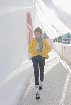 Solid Tone Faux Fur Jacket
