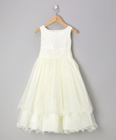 Ivory Lace Tiered Dress - Toddler & Girls by Kid's Dream #zulily #zulilyfinds