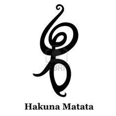 Hakuna Matata - Symbole africaine Banque d'images