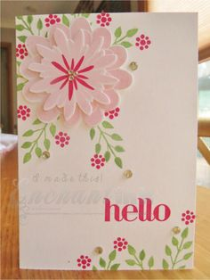 Stampin' Up! Flower Patch Card