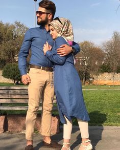 Muslims Couple Matching Outfit Ideas That Make Your Look More Attractive – Girls Hijab Style & Hijab Fashion Ideas Matching Couple Outfits, Matching Couples, Cute Muslim Couples, Cute Couples, Wedding Couples, Muslim Fashion, Hijab Fashion, Fashion Fashion, Retro Fashion