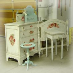 Stencil Designs For Furniture - shabby chic style