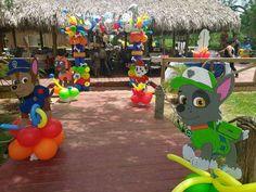 Super idea de decoración para fiesta temática de la Patrulla Canina