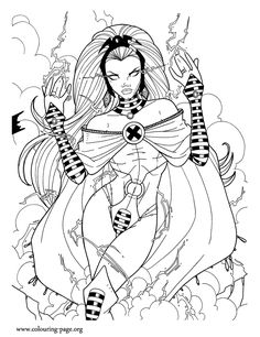how about to print and color this storm coloring page she is an extremely powerful - Supergirl Coloring Pages Kids