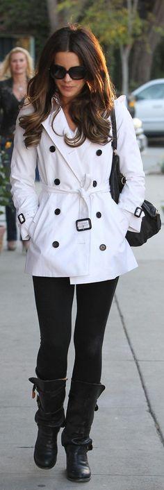 Kate Beckinsale Shops at Fred Segal (coat)
