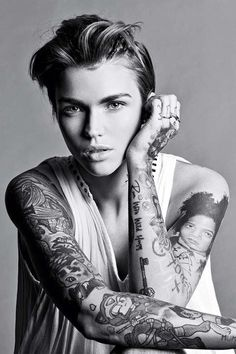 Ruby Rose relates to Gender Fluidity that we discussed during our lecture on Gender. Gender Fluidity takes a wider, more flexible ranger in how you express your gender. She herself was a person of that. She believed only we as individuals knew who we are born to be and to be who you are.