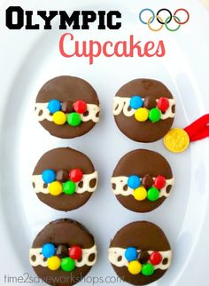 Olympic Cake Ideas | Olympic Ring Cupcakes to make with the kids - 3 Ingredients and 10 Minutes till ready to eat!