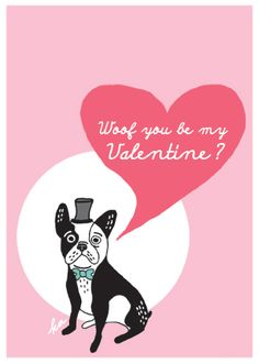 30 Free Valentine Exchange Cards for Boys & Girls Homemade Valentines, Be My Valentine, Cute Dog Pictures, Cute French Bulldog, Holidays And Events, Dog Gifts, Boy Or Girl, Cards, Boston Terrier