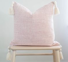 Blush Pillow Cover Light Pink Pillow Covers, Pink Texture Pillow Cover, Pink Tassel Pillow, Blush Pink Pillow Cover with Tassels – neutral accent pillow Orange Pillow Covers, Orange Pillows, 20x20 Pillow Covers, Cushion Covers, Blush Pillows, Fall Pillows, Throw Pillows, Pink Bedroom Decor, Pink Texture