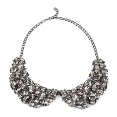 Peter Pan Stone Collar  - Gunmetal