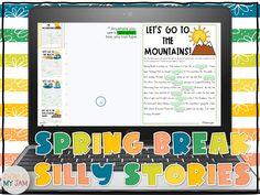 Parts Of Speech Practice, Parts Of Speech Activities, 5th Grade Activities, Spring Activities, Writing Practice, Holiday Activities, Fun Activities, Learning Tools, Learning Resources