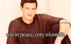 Rest in peace, Cory Monteith. My condolences go out to his friends, family, and his fans. Too young :(♥