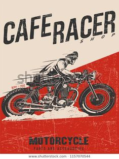 Image vectorielle de stock de Vector Cafe Racer Poster Illustration 1157070544 Bmw Concept Car, Festival Of Speed, Illustrations, Bait, Vintage, Prints, Poster, Motorcycles, Cars