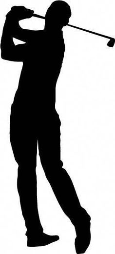Golf Silhouettes Sports Activity Conceptual Sports Pinterest