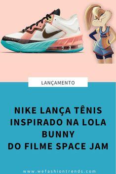 Com o lançamento do filme Space Jam um Novo Legado se aproximando, a Nike fez uma série de lançamentos de tênis inspirados no filme, e dentre eles está um especial para a Lola Bunny. Space Jam, Nike Lebron, Running Shoes, Sneakers, Loafers & Slip Ons, Movie, Tips, Tennis, Runing Shoes