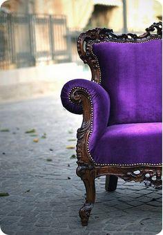Bright Purple couch! <3 IT!!!