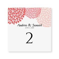 INSTANT DOWNLOAD  Wedding Table Number Card by DiyWeddingTemplates, $8.00