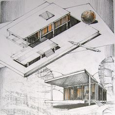 Farnsworth House by TheDreamEater http://ift.tt/2hsYok3 #drawing #architecture #design #illustration #architecturestudent #architecturesketch #architecturelovers #architecturedesign architecture drawing illustration art sketch architecturelovers architecture student architec