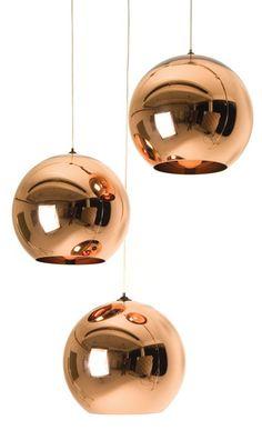 Tom Dixon copper shade pendant