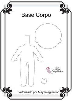 <3 Feltro Fácil: Princesas em Feltro | Basic Body Pattern for making the Disney Princesses <3