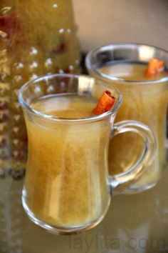 Canelazo - a warm spiced cinnamon cocktail made with cinnamon, water, sugar and aguardiente. Naranjillazo is a version of canelazo made with naranjilla fruit juice.