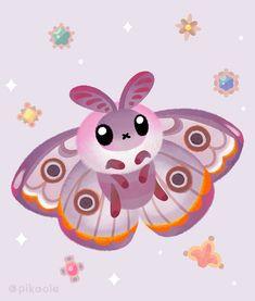 Marbled emperor moth by pikaole on DeviantArt Cute Animal Drawings, Kawaii Drawings, Cute Drawings, Cute Moth, Moth Drawing, Kawaii Illustration, Kawaii Doodles, Dibujos Cute, Animal Party