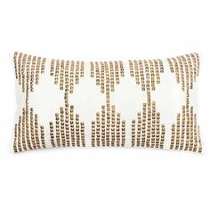 Gold and White Studded Beads Pillow