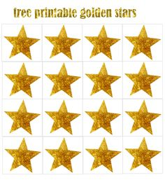 FREE New Year's Eve party printables: stars