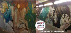 Galleria Nomentana: gli abbracci e le sirene di Giusy Guerriero Art. Entriamo nel suo mondo e conosciamola..  #roma #nomentanagallery #stazionenomentana #streetart #writer #graffiti #giusyguerriero #gallerianomentana #arteecittaacolori #murales #sirene #teneriabbracci #mondomarino #urbanart #decorourbano #igerslazio #sprayart