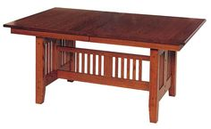 Amish Mission Trestle Dining Room Table - Keystone Collection