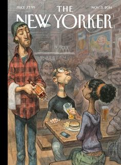 November 3, 2014 - The New Yorker.  The Food Issue. Perhaps the best issue in a long time.  Art by: Peter de Seve