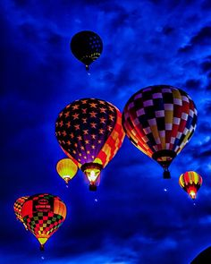 Balloon Fiesta 2012! dawn patrol balloons by Marvin Bredel, via Flickr