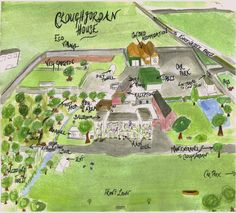 Plan of Cloughjordan House Filming Locations, Clash Of Clans, Reception, How To Plan, House, Home, Clash On Clans, Haus, Houses