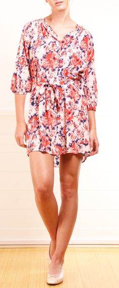 Tucker Printed Button-Front Dress
