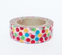 Washi Tape bolle colorate su bianco / Colored Bubbles di Partytude, €3.50