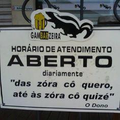 Num buteco em Ubá - MG - O Bom Humor mineiro: Sintonia Fina e Sutileza admirável