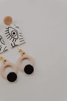 SANNA and FERRARA earrings by iebis