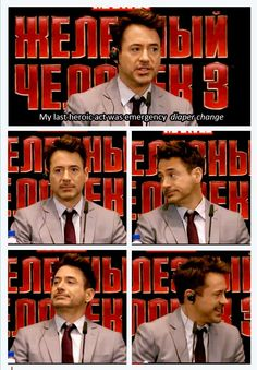 Moscow Press Conference RDJ in Moscow, April 2013  Iron Man 3 Tour hahahaha
