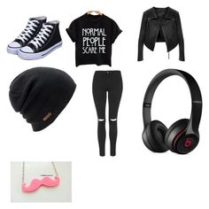 """""""Unit #40"""" by brousseau ❤ liked on Polyvore featuring Linea Pelle, Coal, Beats by Dr. Dre and Topshop"""